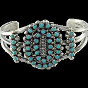 Zuni Petit Point Turquoise Sterling Bracelet