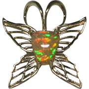 Butterfly Opal 14 Karat Gold Pendant