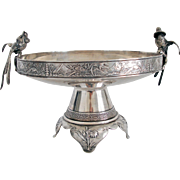 Gorham Sterling Silver Fruit Stand/Tazza with Japanese Influence , Aesthetic Movement