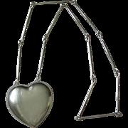 Georg Jensen Sterling Silver Astrid Fog Heart Necklace #126 Vintage