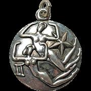 Margot de Taxco Gemini, the Twins, Zodiac Sterling Silver Pendant/Charm