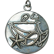 Margot de Taxco Libra Zodiac Sterling Silver Pendant/Charm