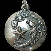 Margot de Taxco Pisces Zodiac Sterling Silver Pendant/Charm