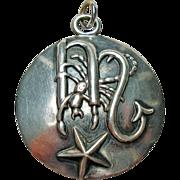 Margot de Taxco Scorpio, the Scorpion, Zodiac Sterling Silver Pendant/Charm