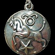 Margot de Taxco Taurus, the Bull, Zodiac Sterling Silver Pendant/Charm