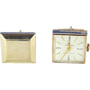 Square Sovereign Watch Gold Pate Cuff Links