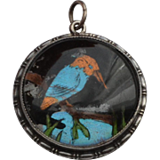 Butterfly Wing Kingfisher Pin Sterling Silver
