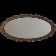 """SALE Large 23"""" L Gilt Karew Vanity Mirror Dresser Tray With Leaf Design"""