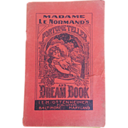 SOLD Extremely Rare Late 19th C Madame Le Normand's Fortune-Teller and Dream-Book ...