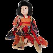 """SALE Vintage Japanese 12"""" Ichimatsu Ningyo Japanese Doll Marked"""