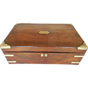 Antique 19th C English VR Lap Desk With Secret Drawers Containing Period Selina Heffer (Born .