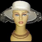 Vintage 1970s Hat .  NOS .  Wedding  . Lord & Taylor