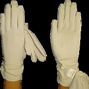 Vintage 1950s Gloves . NOS . Rockabilly . Mod . Gown Wedding Garden Party Mad Men Cocktail Pro
