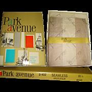 Vintage Hosiery . 4 Pair . Original Box . Park Avenue . Never Worn Seamless . 1940s . Stocking