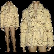 Vintage Coat . Jacket - Wool . Southwest . 1980s Stroller Coat . Mad Men Couture Rockabilly