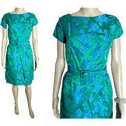Vintage 1950s Dress . Hourglass . Wiggle . Two Tone . Party Dress . Couture . New Look . Femme