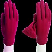 1950s Gloves . Fuscia . Rockabilly . Mod . Mad Man . Cocktail Party . Wedding