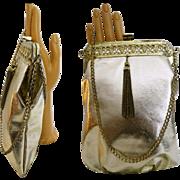 Vintage 1950s Purse//1950s handbag//Vintage Evening Purse//Gold//Metallic//50s Evening Purse//