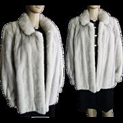 Silver Mink Jacket // Vintage Mink // Mink Stole// Designer//Stole//Mink Coat