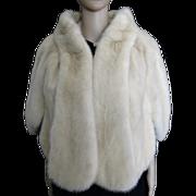 Vintage White Mink Stole//Mink Cape//Femme Fatale//White