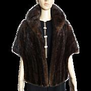 Vintage Mink Stole//Dark Mahoney//Wedding Stole//1960s Mink Stole// Coat//Jacket
