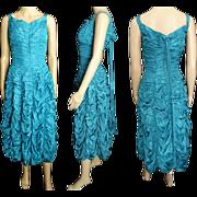 Vintage 1950s Dress//50 Dress//Party//New Look//Mod//Aqua//Wedding