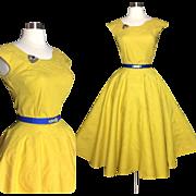 Vintage 1950s Dress//50s Skirt//Matching Top//Set//Rockabilly//Full Circle//New Look//Mod/ ...