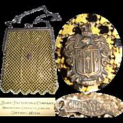 Vintage 1920s Purse . Whiting & Davis  .  20s vintage handbag . 1920s . vintage . handbag
