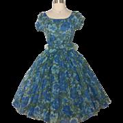 Vintage 1950s Dress//GiGi Young//New York//50s Dress//Floral//New Look//Mod//Rockabilly//Mad M