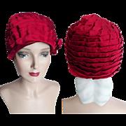 Vintage 1950s Hat// Clothe Hat//50s Hat// Couture//Designer//New Look//Designer/ Garden Party/