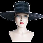 Vintage 1950s Hat//Lilly Dache//Brim//50s Hat//Garden Party// Mad Men// Rockabilly//Femme ...