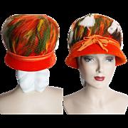 Vintage 1950s Hat // Feathered Hat//Original Designer//Fatale// Couture// Mad Man// Rockabilly