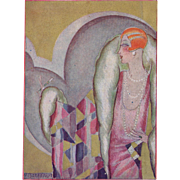 SOLD French Art Deco woman on 1932 theater program cover