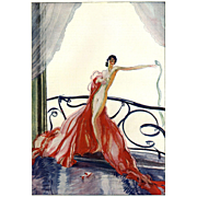 SALE Vintage French Art Deco Fashion Nude