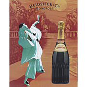 Original Vintage French Champagne Print