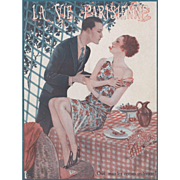 Lovers-Art Deco French print