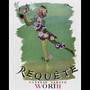 """Spring into Springtime!"" Original Vintage French Perfume Print"