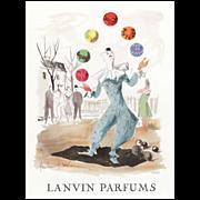 Original French Lanvin Perfume Advertising Print