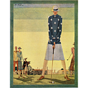 SOLD French Art Deco Fashion Illustration for the Woman who Golfs!