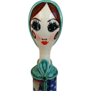 SOLD Gemma Taccogna Paper Machet Lipstick Holder C1950