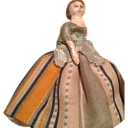 SOLD Rare and beautiful miniature toothpick size antique doll