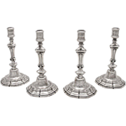 Four Tiffany & Co. Sterling Silver Candlesticks