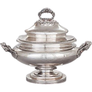 SALE Impressive American coin silver covered tureen, by John & James Cox