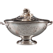 SALE French 950 silver soup tureen