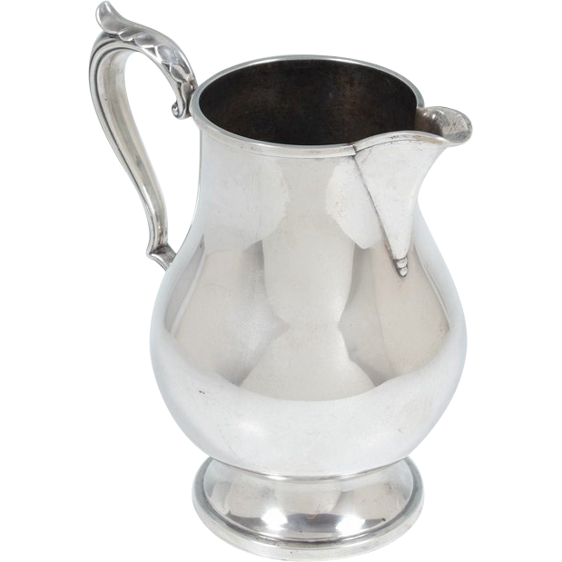 sterling silver water pitcher 23 ounces from classicsilver on ruby lane. Black Bedroom Furniture Sets. Home Design Ideas