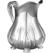 Tiffany aesthetic movement sterling silver pitcher