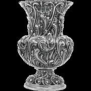SALE BUCCELLATI style ITALIAN silver monumental size palace vase