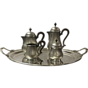 SALE Buccellati Sterling Silver Large Tea Set with Tray