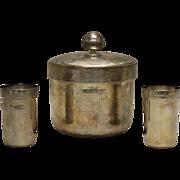 SALE Buccellati Sterling Silver Ice Bucket & Drinking Cups