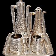 SALE Gorham Sterling Silver Turkish Style Tea & Coffee Set